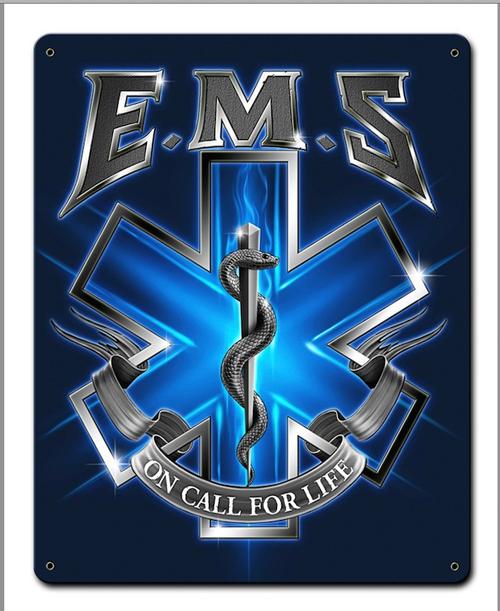 """""""EMS  ON  CALL""""  METAL  SIGN"""