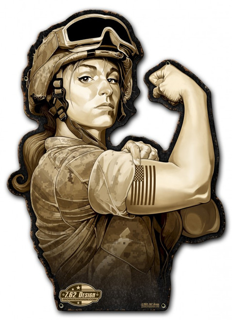 """Sergeant Sarah"" Custom Metal Shape Wall Art"