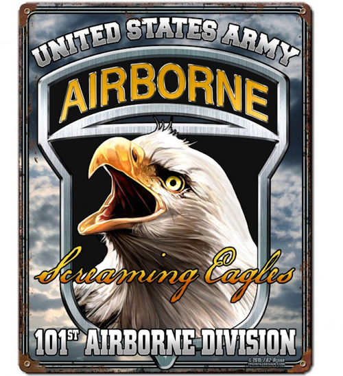 """""""101st  AB Screaming Eagles""""  METAL  SIGN"""
