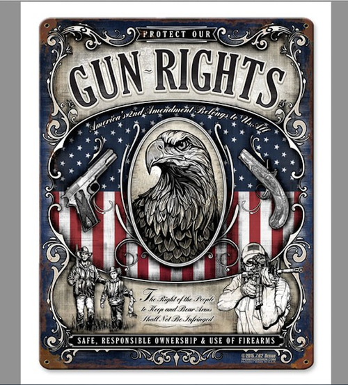 """GUN  RIGHTS"" METAL SIGN"