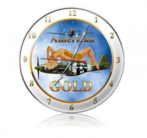 """AMERICAN  GOLD""  CLOCK"