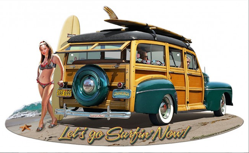 """1946  Woodie""  Metal Sign"
