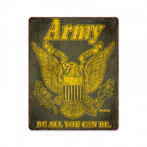"""ARMY""  VINTAGE  METAL  SIGN"
