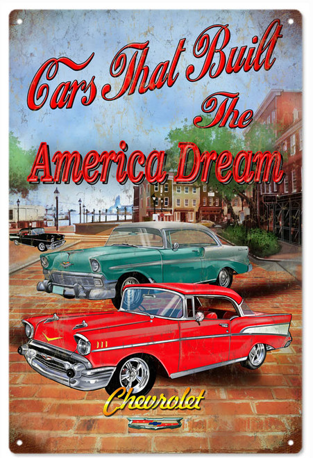"""American Dream  Chevrolet""  Metal  Sign"