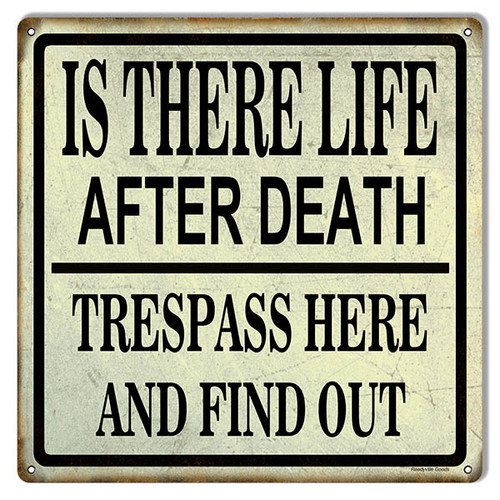 """TRESPASS  WARNING ""  METAL SIGN"