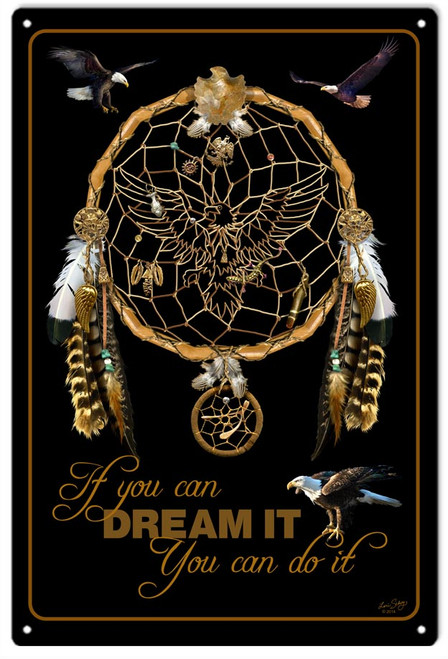 """DREAM  IT  AND  DO  IT""  METAL  SIGN"