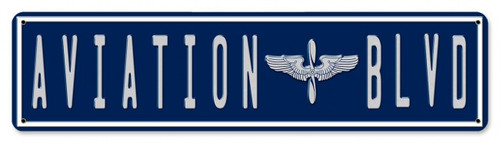 """AVIATION  BLVD""  METAL  STREET  SIGN"