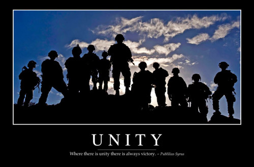 """UNITY""--MOTIVATIONAL  METAL SIGN"