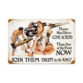 """""""THESE MEN WHO ENLIST IN THE NAVY""""  METAL SIGN"""