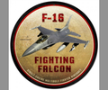"""F16  FIGHTING  FALCON"" METAL SIGN"
