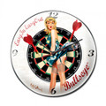 """BULLSEYE""  CLOCK   MADE  IN  THE  USA"