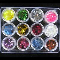 3mm Hexagon Glitter Set
