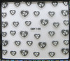 rose heart shaped nail stickers