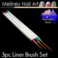 3pc liner thin Nail art brush set