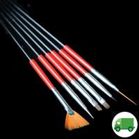 6Pc Brush Set (Red)