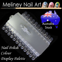 nail polish colour display palette with interchangeable tips