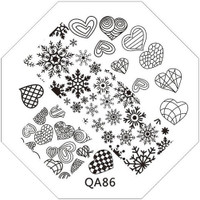 heart and snowflake image plate QA86