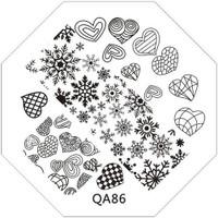 heart and snowflake image plate QA86