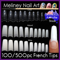 500pc french nail tips false nails