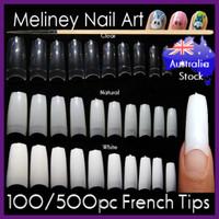 500pc french nail tips false nails