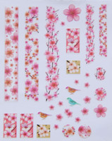cherry blossom nail stickers