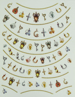 Antique owl nail stickers