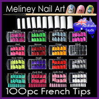 100pc french nail tips color