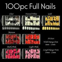 100pc Full Nails