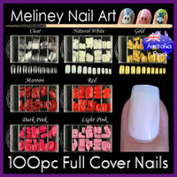 100pc full cover mid nails
