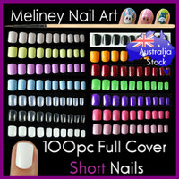 short full cover false nails
