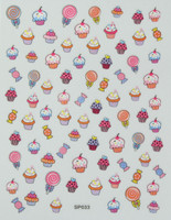 cupcake nail art stickers