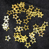 metal slices gold hollow star