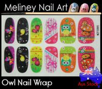 Glitter Nail Wrap - Owl
