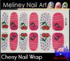 cherry nail wrap