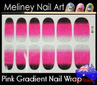 gradient pink nail wrap