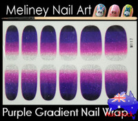 gradient purple nail wrap