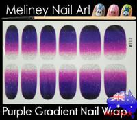 gradient purple nail wrap