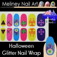 halloween blue nail wraps