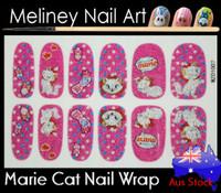marie cat nail wrap