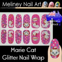 marie cat nail wraps