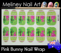easter bunny nail wrap