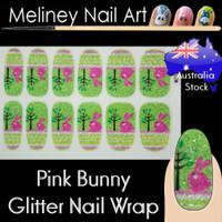 easter bunny rabbit nail wraps sticker