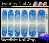 snowflake nail wrap