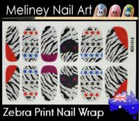 zebra print nail wrap