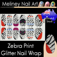 Zebra Print nail wraps stickers