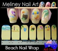 beach nail wrap