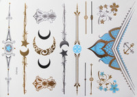 Metallic Flash Temporary Body Tattoos