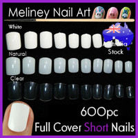 short nail tips full cover