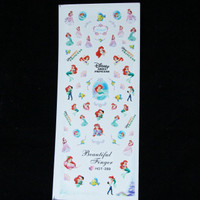 Disney Little Mermaid water decal nail sticker