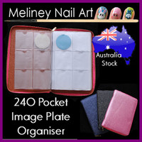 240 pocket image plate organiser folder case bag round